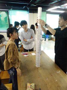 紙タワー作り2